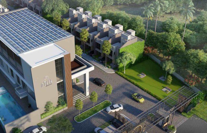 Solar panels on club roof